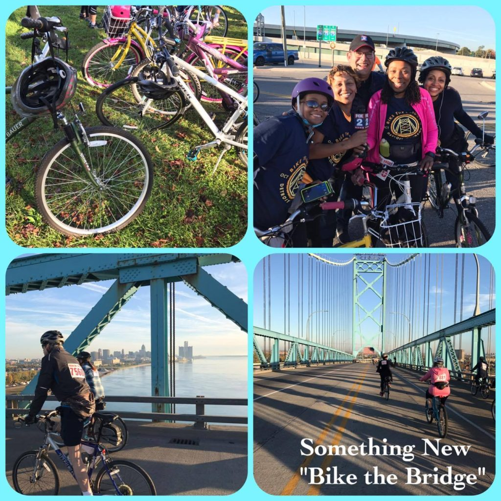 I joined a friend and 1,000 reported cyclist with Tour de Troit in order to Bike the Ambassador Bridge